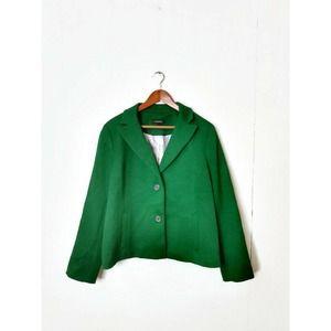 Talbots Emerald Green Blazer Career Jacket